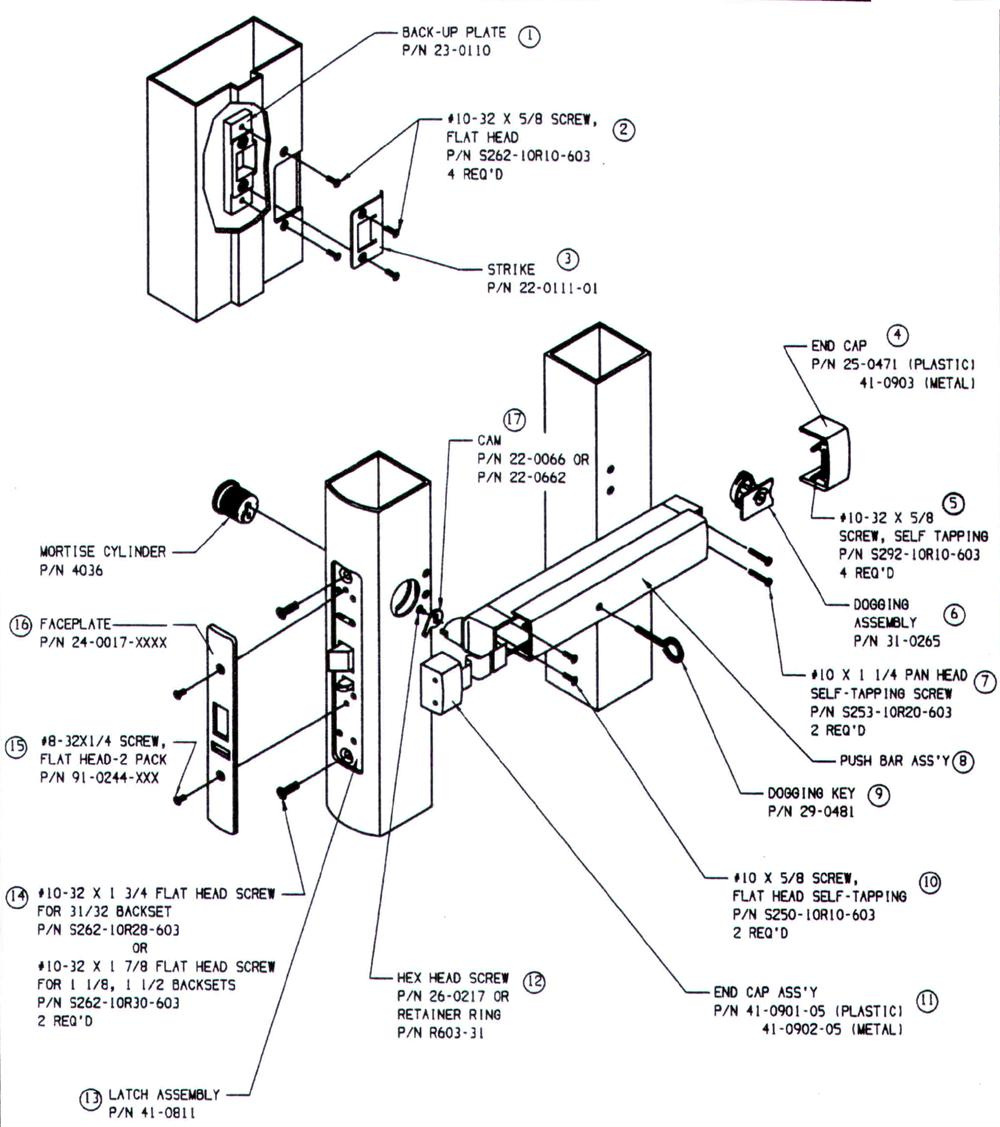 8400 Series Mortise Detail on telephone wiring diagram